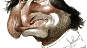 USA - 1998:  Rod Coddington caricature of Apple founder Steve Jobs. (MCT via Getty Images)