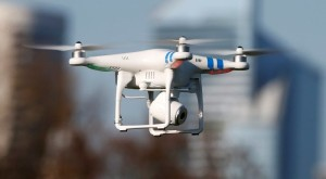 A 'Phantom 2' drone by DJI company flies during the 4th Intergalactic Meeting of Phantom's Pilots (MIPP) in an open secure area in the Bois de Boulogne, Paris, in this March 16, 2014 file photo.