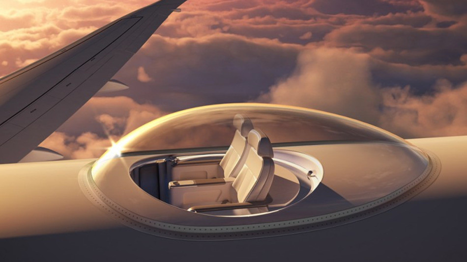 Strange The Ultimate Window Seat Is A Glass Bubble On Top Of A Plane Cjindustries Chair Design For Home Cjindustriesco