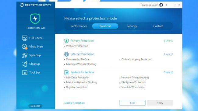 360 Total Security takes its time over scans, but finds most threats