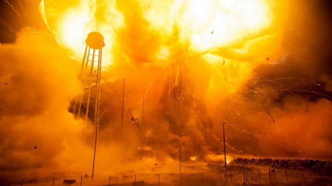 In 2015 NASA released this image of Orbital ATK's 2014 explosion (Credit: NASA)