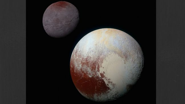 Pluto and its moon Charon were snapped for the first time (Credit: NASA/JHUAPL/SwRI)