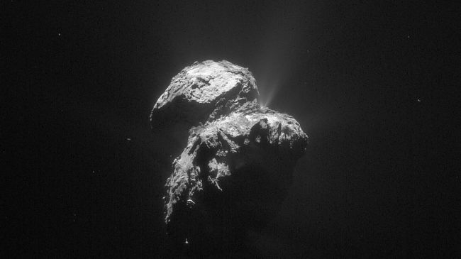 Rosetta got close to comet 67P (Credit: ESA/Rosetta/NAVCAM)