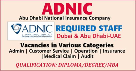 Abudhabi National Insurance Company Job Vacancies - Techionix
