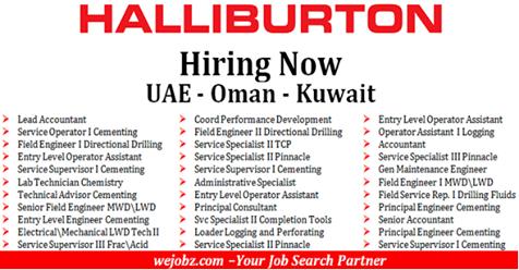 Latest Job Openings at Halliburton in UAE | OMAN | SAUDI