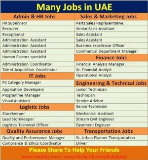many jobs