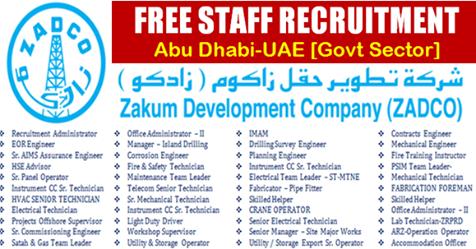 Latest Jobs at Zakum Development Company-ZADCO - Techionix