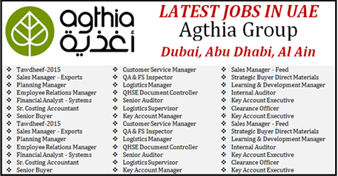 Latest Jobs At Agthia Group Uae   Logistic Supervisor Jobs