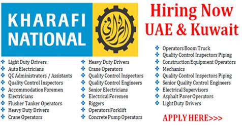 Latest Jobs at Kharafi National-UAE-Kuwait - Techionix